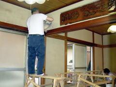 和風京壁塗り工事中