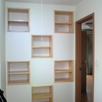 壁造作&収納付き工事 2
